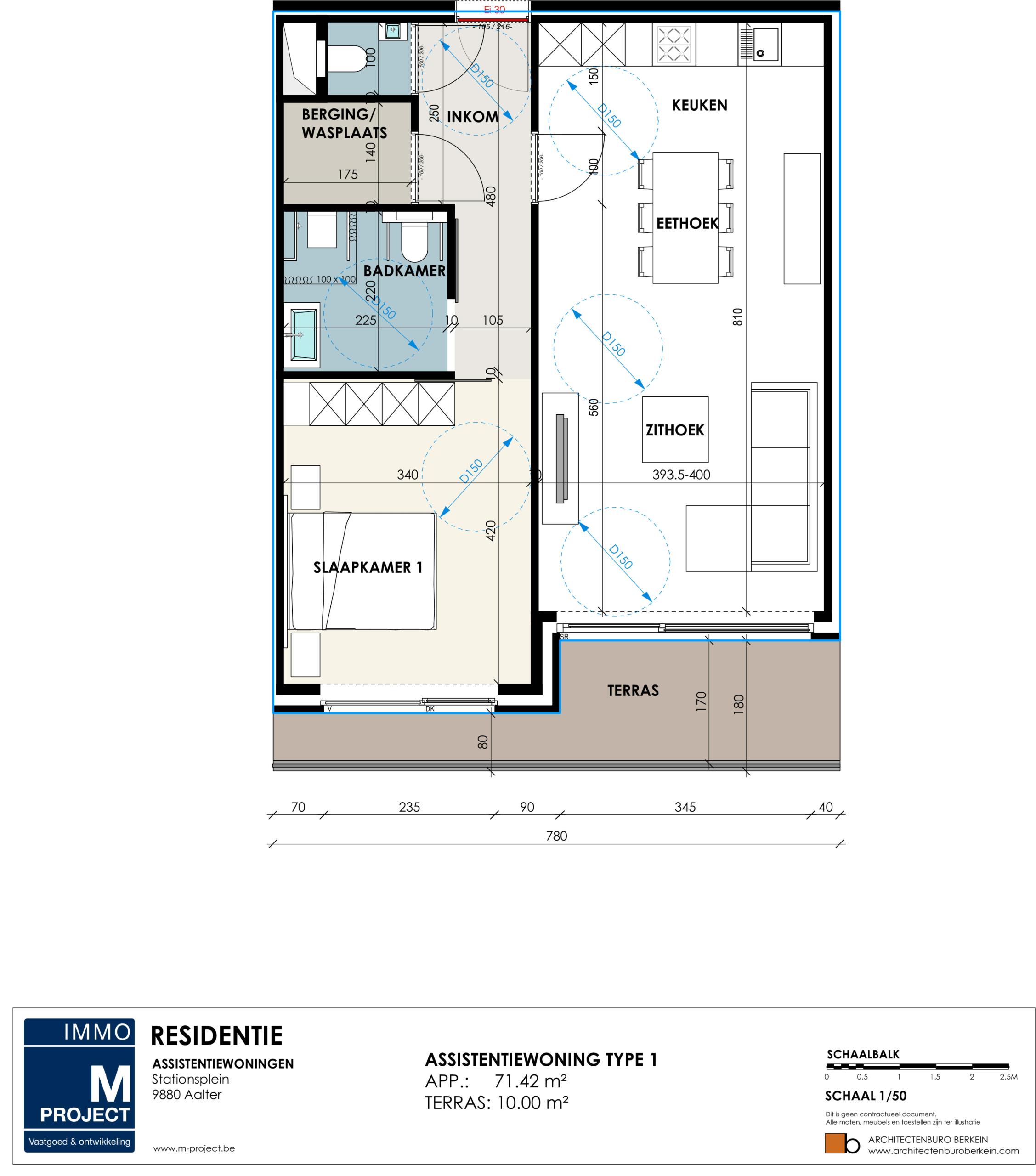 ik wens een serviceflat of assistentiewoning aan te kopen in Residentie Academie - appartement type 1