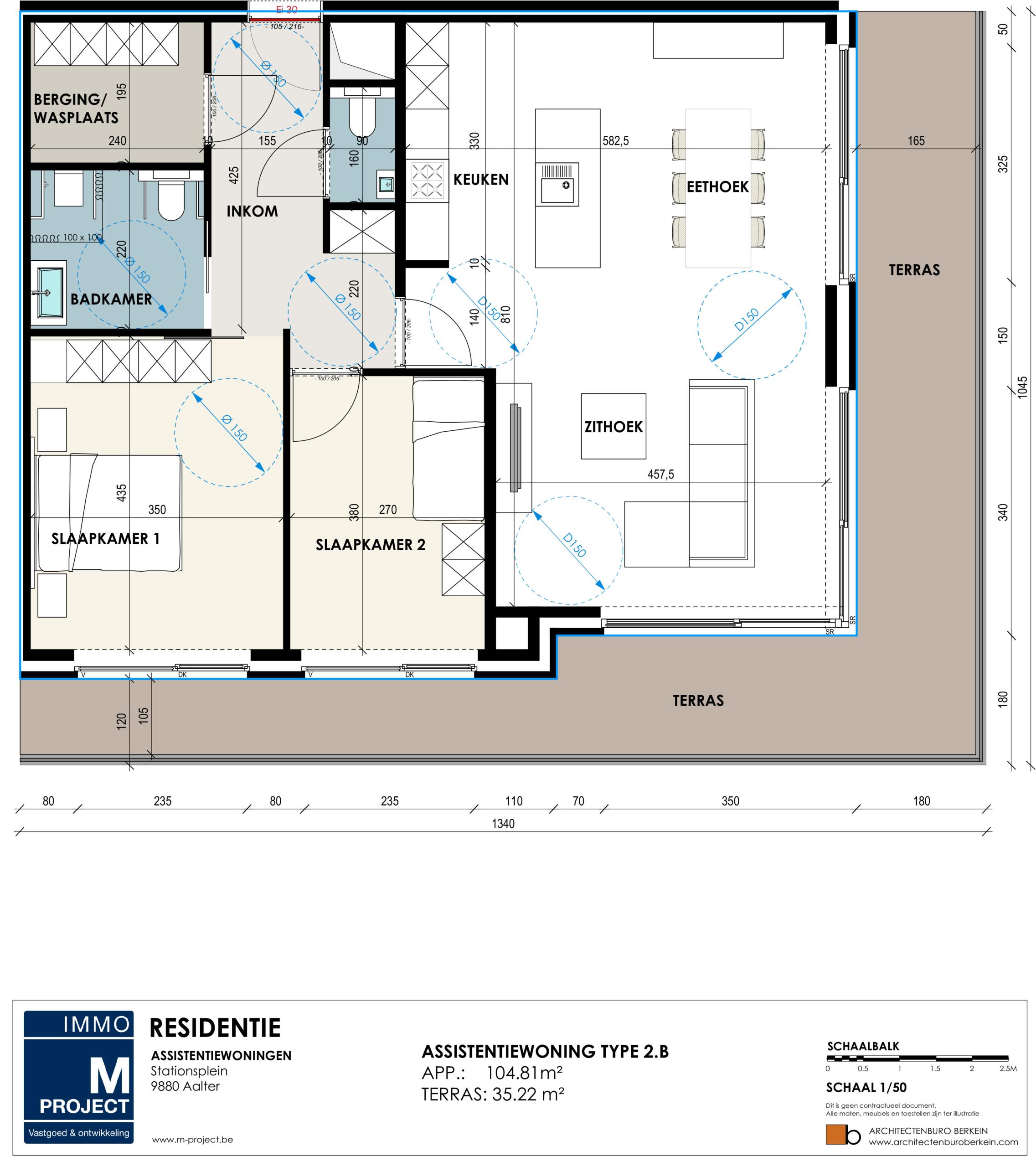 gemeente Aalter, koop of huur in Residentie Academie - appartement type 2B