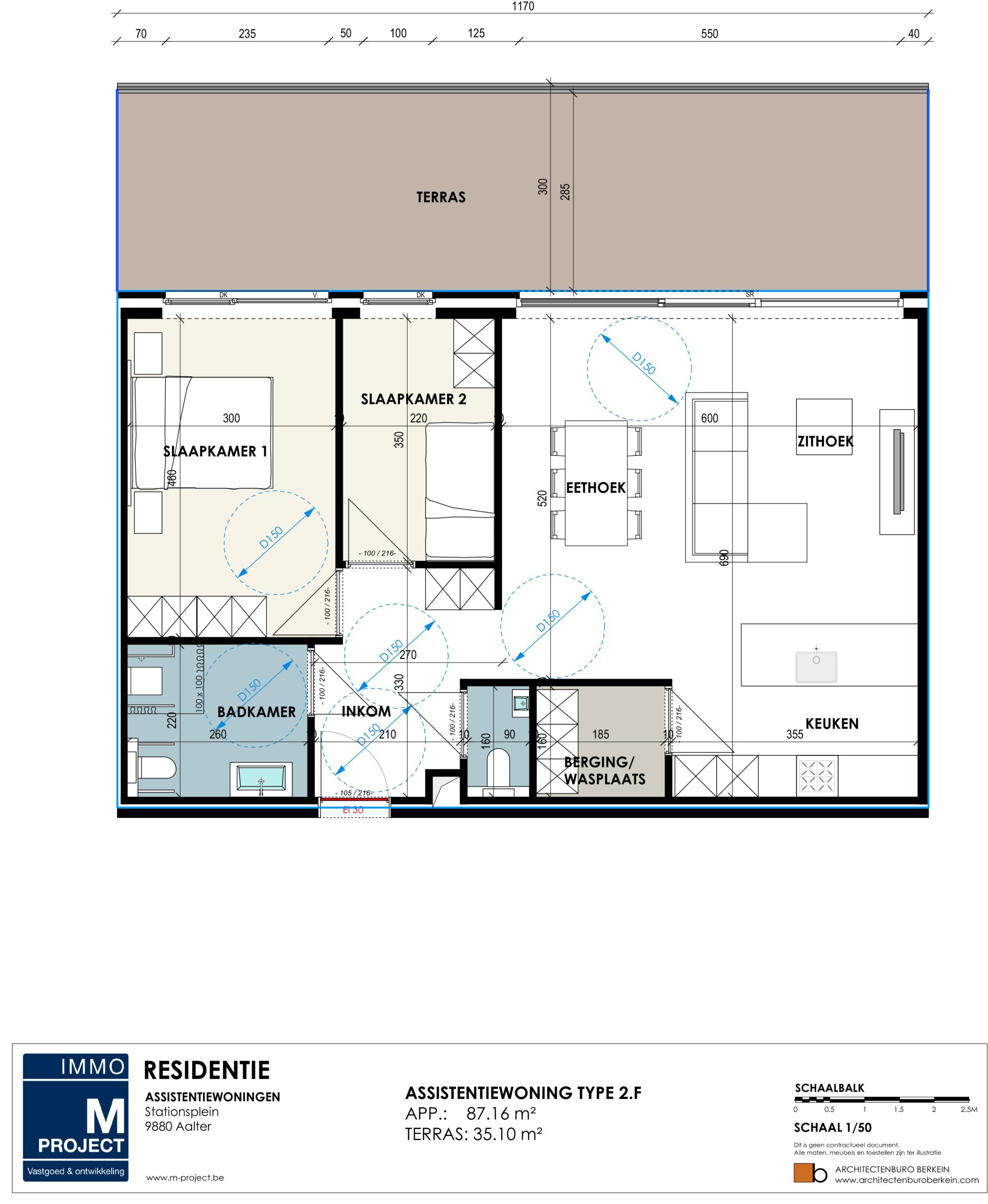 uw eigendom assistentiewoning kopen - Residentie Academie - appartement type 2F