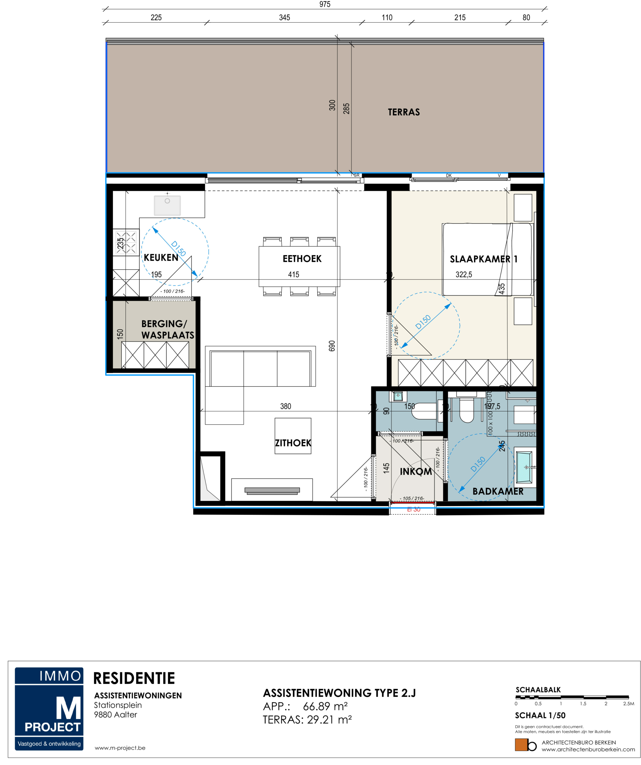 ruime assistentiewoning, nieuwsbouw Residentie Academie - appartement type 2J