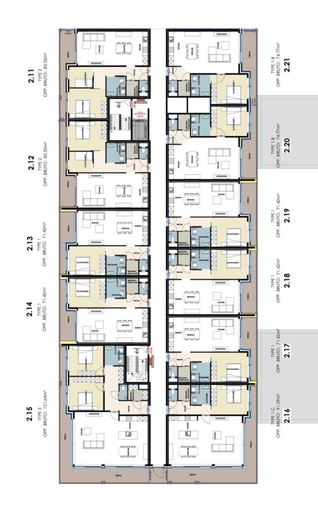 Residentie Academie 2de verdieping, koop uw assistentie woning flat appartement te Aalter