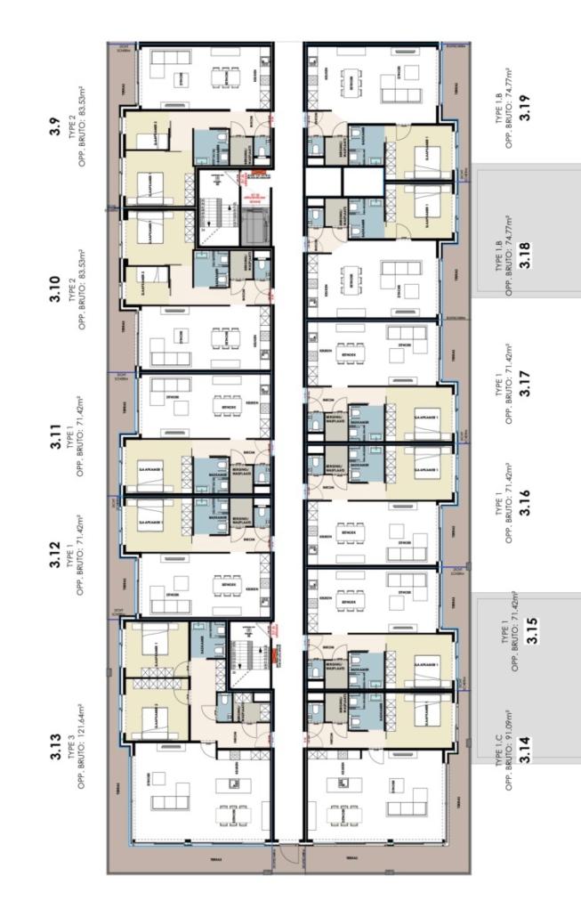 Residentie Academie 3de verdieping, een service appartement kopen